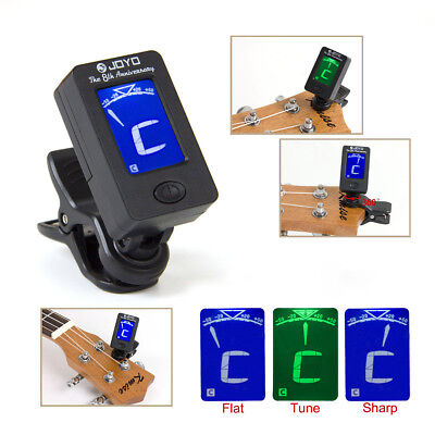 Acoustic Guitar LED Clip-on Guitar Tuner Headstock for Bass Violin Ukulele