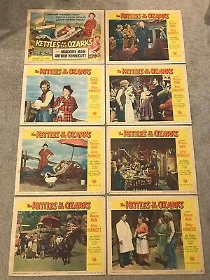 Original Lobby Card Set (8) 11x14: The Kettles in the Ozarks (1956) Majorie Main
