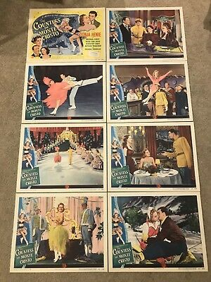 Original Lobby Card Set (8) 11x14: The Countess of Monte Cristo 1948 Sonja Henie