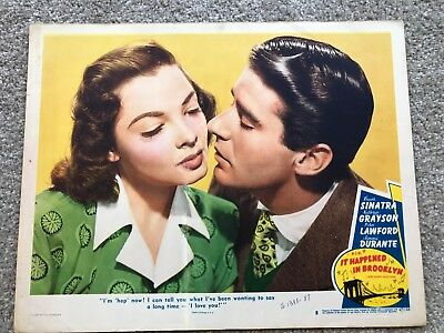 ORIGINAL LOBBY CARD 11x14: It Happened in Brooklyn (1947) Frank Sinatra