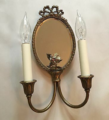 Vintage Lighting four matching 1920s mirrored sconces