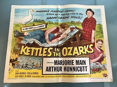 ORIGINAL HALF SHEET POSTER 22x28: The Kettles in the Ozarks (1956) Majorie Main