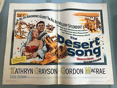 ORIGINAL HALF SHEET POSTER 22x28: The Desert song (1953) Kathryn Grayson