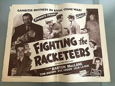 ORIGINAL HALF SHEET POSTER 22x28: Fighting the Racketeers (Big Town Czar) 1951R