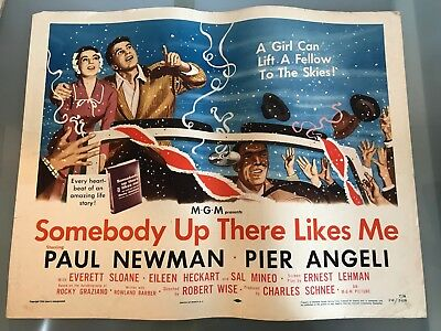 ORIGINAL HALF SHEET POSTER 22x28: Somebody up There Likes Me (1956) Paul Newman