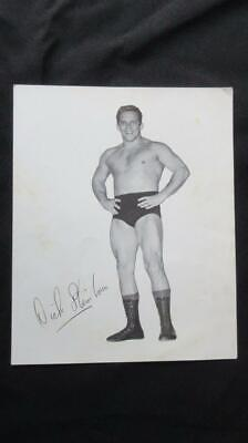 1960's Circa Photo of Dick Stein Lou Champion Wrestler with Signature on Photo.