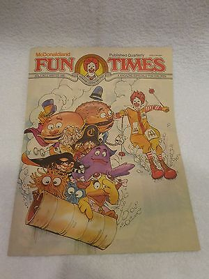 McDonalds Fun Times vintage COLLECTION over 50 mint magazine book games learning