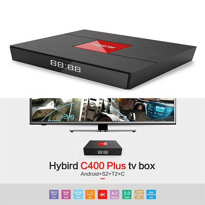 Magicsee C400 Plus Hybird S2+ T2+ C Tv Box S-912 Android 7.1.2 3gb + 32gb Wlan