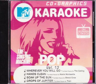 Mtv Karaoke Cd + Graphics Volume 13 The Singing Machine 8 Track Cd - Good Plus