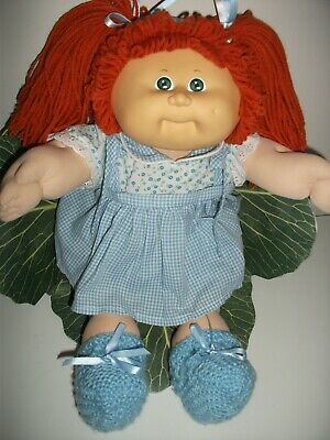Coleco Cabbage Patch Girl Doll 1985 Red Hair, Green Eyes, One Dimple.