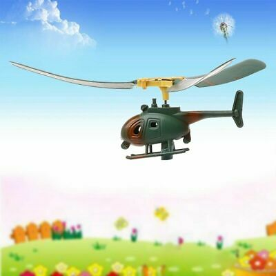 Funny Outdoors Helicopter Pull String Handle Educational Kid Toy Gift For Child