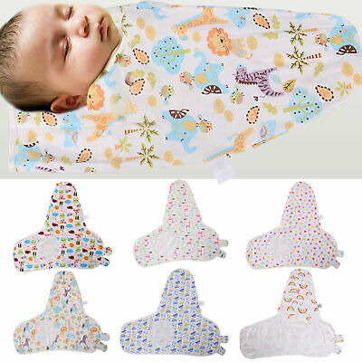 4-9Kg Baby Swaddle Wrap Infant Bedding Blanket Cotton Sleeping Bag Cotton Wrap