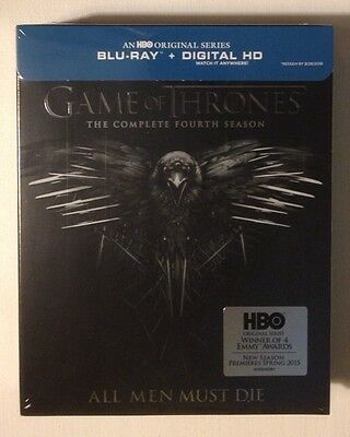 GAME OF THRONES: Complete Fourth Season - NEW SEALED DIGITAL &  BLU-RAY SET!!