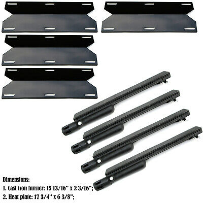 Replacement Jenn Air Gas Grill Repair Kit Gas Grill Burner and Heat Plate- 4Pack