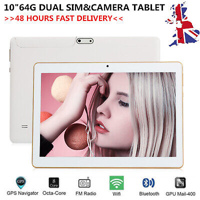 10.1 inch Tablet PC 4GB+64GB Octa-Core Android 6.0 WIFI GPS Phone Wifi Phablet C