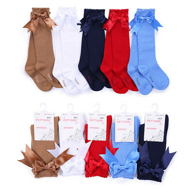 Unisex Kids Toddler Girls Boys Knee High Socks Bow Spanish Party School Socks