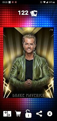 Topps WWE SLAM Digital 2019 Timeless Gold Drake Maverick 75CC