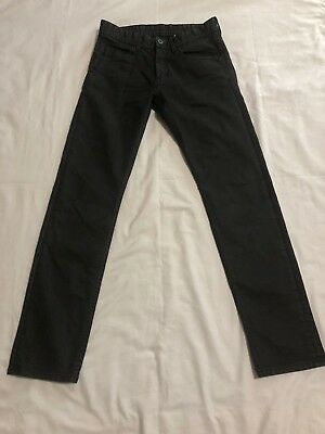 H&M Boys Slim Fit Black Jeans Size 12X29. Stretch to fit Fabric.