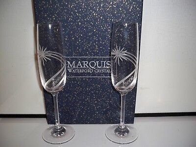 Waterford Crystal Marquis Millennium Celebration Toasting Flutes