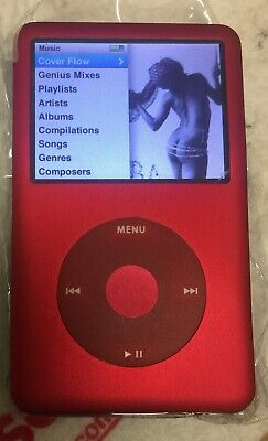 Apple iPod classic 7th Generation Custom  Red  256GB SSD Flash Black back