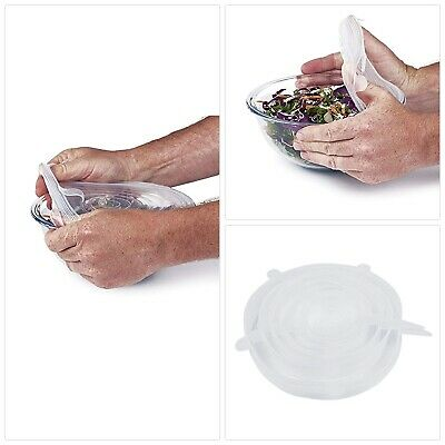 Super Stretch Lids Silicone Bowl Covers Universal Food Covers Lids Easy Fit Suct