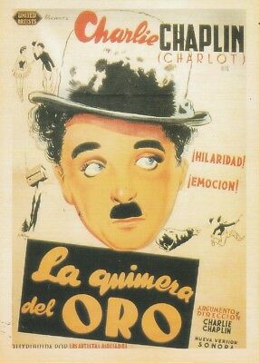 VINTAGE MOVIE POSTER REPRO POSTCARD : THE GOLD RUSH Charlie Chaplin