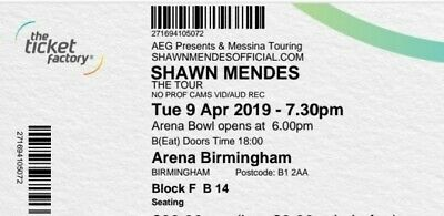 Shawn Mendes Tickets X 2