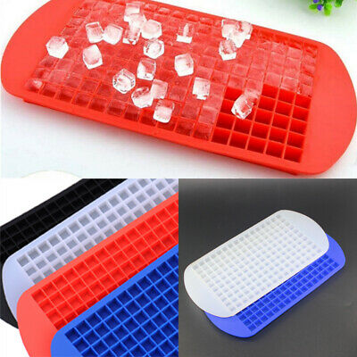 160 Grids Mini Small Ice Cube Tray Frozen Cube Tray Silicone Ice Mold Tool DIY #