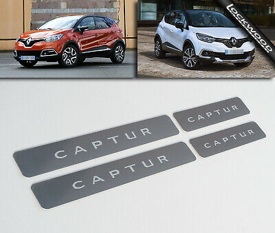 Renault Captur (Released 2013) Stainless Sill Protectors / Kick Plates