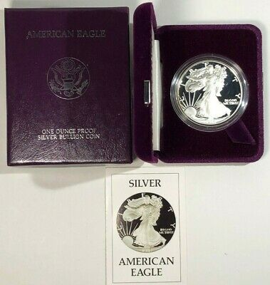1986-S Silver American Eagle Proof 1 oz US Mint Coin with Box and COA .999