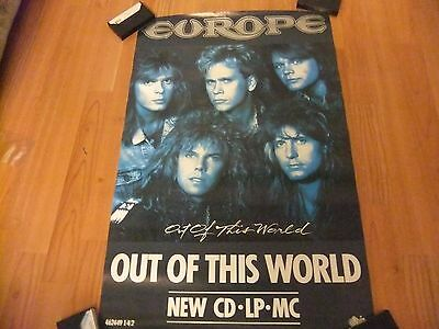 """EUROPE""""Out of this World"""" Promo Poster 20 by 30 inches(1988)NEVER BEEN DISPLAYED"""