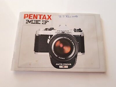 Vintage Camera Manual, Pentax ME F, Collectable