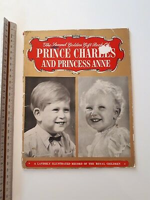 "Vintage Booklet ""The 2nd Golden Gift Book of Prince Charles and Princess Anne"""