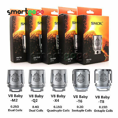 5Pcs SMOK² TFV8 Coil Head Cloud Beast Replacement for V8 Baby Q2 T8/6 X4 M2 BSG