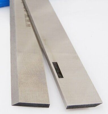 "Multico 12"" 1/8"" HSS Resharpenable Slotted Planer Blades 1 pair"