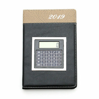 New A5 Leather Diary 2019 Day Per Page With Calculator Executive Stylish Planner