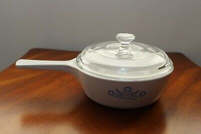 Corning Ware Cornflower Blue 1 Pint Sauce Pan With Lid ~ Made In The Usa!!