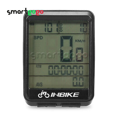 LCD Wired Wireless Cycling Waterproof Computer Bicycle Speedometer Odometer BSG