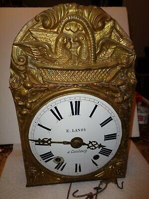 Antique-French-Morbier-Clock Movement-Ca.1880-To Restore-#T201