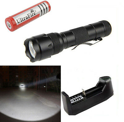 1 Mode UltraFire Flashlight  502B CREE T6 LED 2000LM Torch light +18650 +Charger