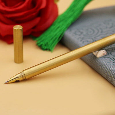 1PC Brass Ball Retro Pens Handmade EDC Japan Style Pen Refillable Gel Pen Gift