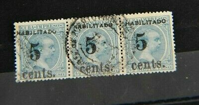 1Cuba 1898-99 No. 190  In Strip  of 3 CV:  $75 each