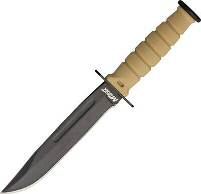 MTech 632DT Desert Tan Rubber Handle Stainless Tactical Fixed Blade Knife