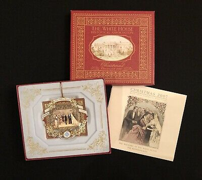 The White House Historical Association Christmas Ornament 2007 w Box & Booklet