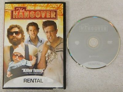 The Hangover (DVD, 2009, Rental Copy)  Free Shipping - Used