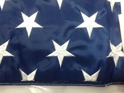 American USA Flag Embroidered Stars Sewn Stripes 2 Grommets 4 X 6 FT Nylon New