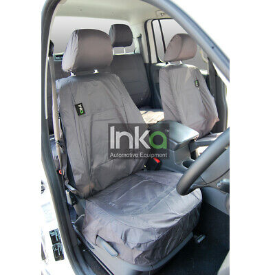 VW Amarok Pick Up Truck Inka Fully Tailored Front Waterproof Seat Covers Grey