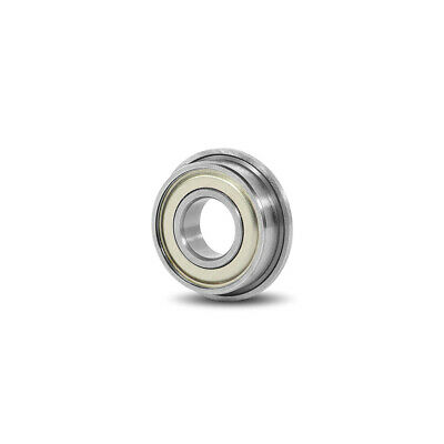 FR168ZZ Metal Shielded Deep Groove Flanged Ball Bearing 1/4x3/8x1/8""