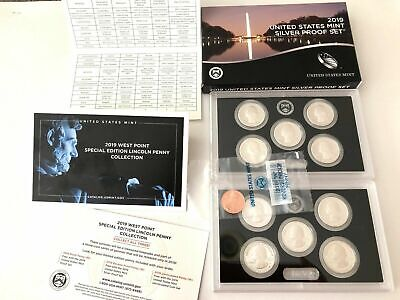 2019 S  Proof Sets  Silver 99% & Rev Proof W Penny  11 Coin  Set In Hand