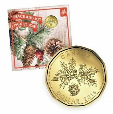 2016 Canada Holiday Gift Set - 5 Coin Set with Christmas Peace & Joy Loonie